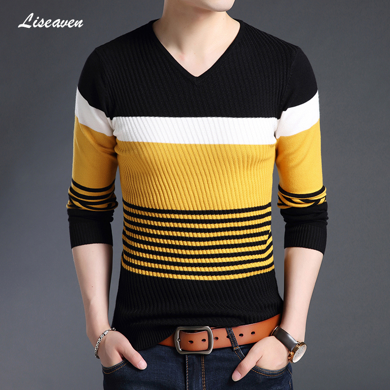 Liseaven Fashion Men's Sweaters 2019 New Arrival Pullover Sweater Pull Homme Mens Full Sleeve Tops Clothing For Men
