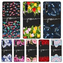 Cool cat angel Custom Name DIY Black Soft TPU Silicone Case Cover For Huawei P8 P9 P10 P20 P30 Lite Pro P Smart Plus 2017 2019