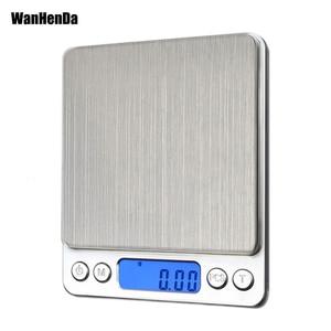 Image 1 - ميزان اليكتروني صغير محمول, 500/0.01جرام, 3000/0.1جرام بشاشة LCD لقياس وزن المجوهرات و للمطبخ و البريد
