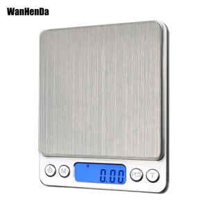 NEW 500/0.01g 3000g/0.1g LCD Portable Mini Electronic Digital Scales Pocket Case Postal Kitchen Jewelry Weight Balance Scale(China)