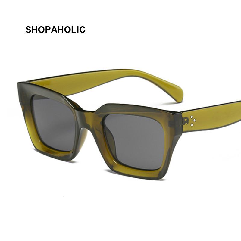 New Fashion Women Luxury Brand Square Sunglasses Ladies Vintage Oversized Sun Glasses Female Big Frame Uv400 Shades Black