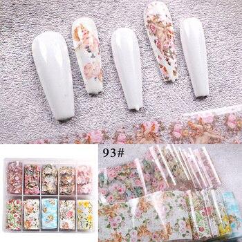 1set/lot 2.5*100cm Butterfly Spring Mix Flower Starry Sky Nail Foils set Transfer Sticker DIY Manicure Decoration Decals - 93