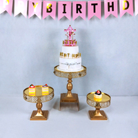 Tobs Gold Lace Edge Cake Stand Cake Decorating Wedding Plates Set