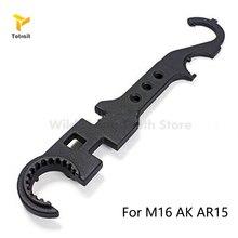 AR15/АК М16 оружейники ключ комбинированный оружейник гаечный ключ инструмент цевье запаса баррель удалить стальной охотничий аксессуары углерода