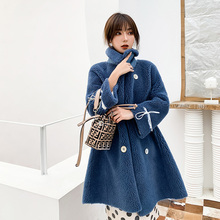 Winter Fashion New High Quality wool Coat Long  Female Loose Thick Warm coat