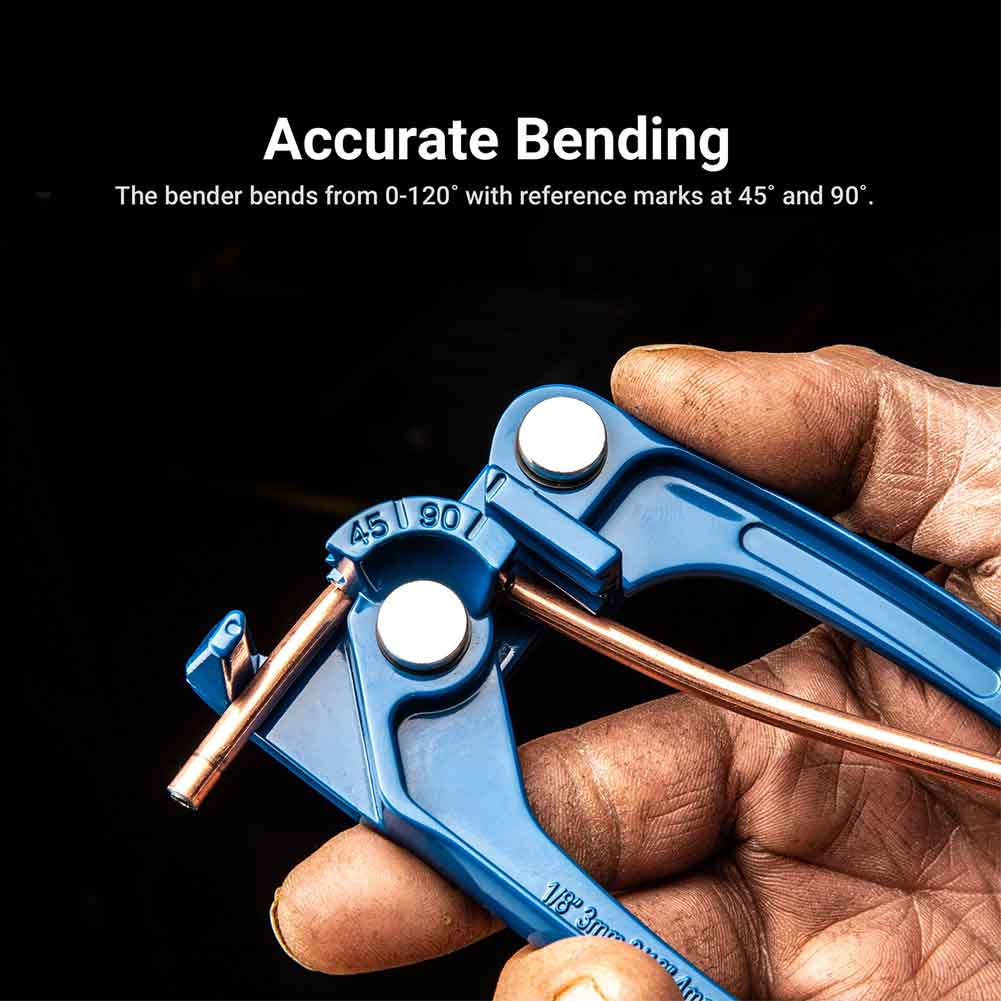 Easy Apply Durable Manual Tool Refrigerant Line Tube Bender Air Conditioner 1/8 3/16 1/4