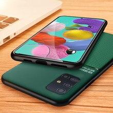Coque de protection en cuir mat pour Samsung Galaxy, pour modèles A51, A71, note 10, 10plus, s10, S20 Ultra, S20 plus