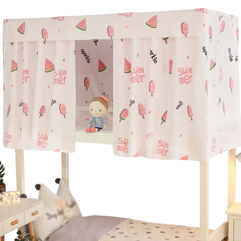 printed dormitory bunk bed curtain