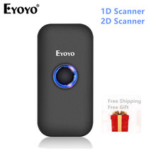 Eyoyo Mini Bluetooth 2D Barcode Scanner 2.4G Wireless & Bluetooth Bar Code Reader Portable 1D QR Image Scanner for IOS Android
