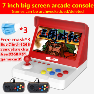 New 7.0/4.3 inch retro mini arcade console 32GB Built-in 9000 game for ps1/cp1/cp2/neogeo/gb/snes/nes/sega/bin handle*2 mp3mp4(China)
