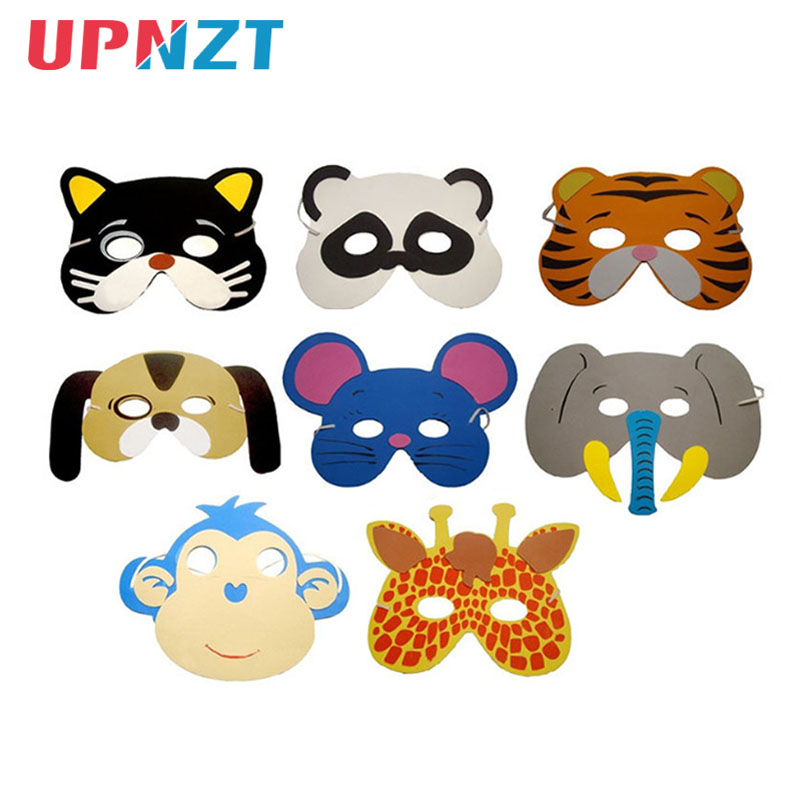 12pcs Children Animal Mask Kids Adult Ball Halloween Christmas Holiday Masquerade Party Decoration Mask