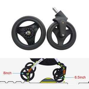 Image 4 - Stroller Wheel Tire and Accessories Yoya Plus Original Front Back Wheels for Yoyaplus 2/3/4/Max/Pro Series