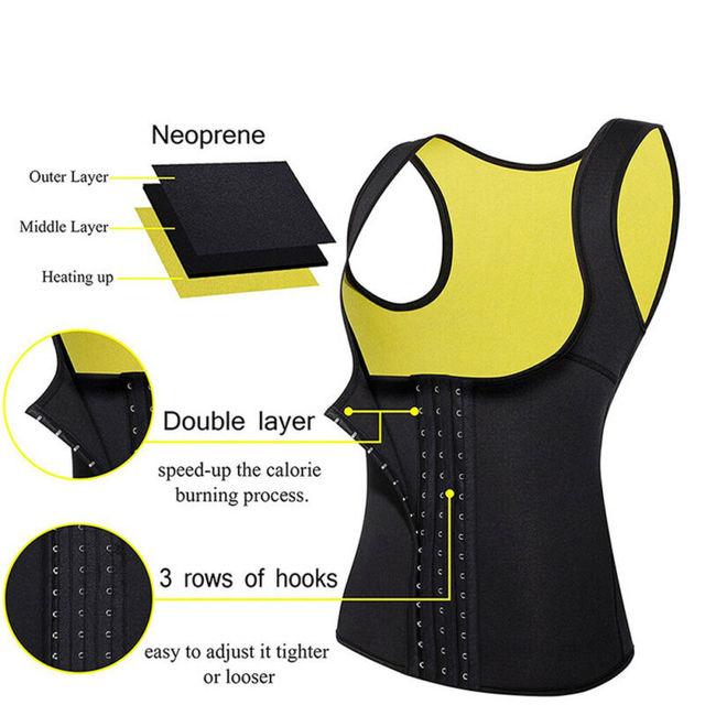 2020 Plus Size Women Neoprene Hot Vest Shaper Gym Sauna Sweat Thermal Belt Girdle Tank Top Ladies Half Body Shaper Bra S-6XL 5