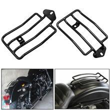 Черное заднее сиденье для мотоцикла, подходит для багажника, полка для Harley XL Sportsters Iron 48 883 XL1200 2004