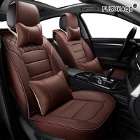 FUZHKAQI 1 PCS leather car seat covers For toyota avensis t25 wish prado 150 corolla prius 20 land cruiser 100 camry aygo rav4