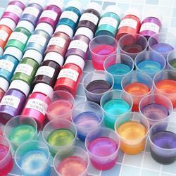 DIY Chameleons Epoxy Resin Pigments Symphony Powder Mini Brush Pearlescent Pearl Pigment Nail Art Dearation Resin Crafts