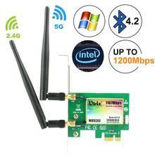 Ubit AC 1167 mb/s 8260 bezprzewodowa karta sieciowa Bluetooth 4.2, karta wifi 802.11, karta sieciowa 5Ghz 867Mbps/2.4Ghz 300 mb/s na PC