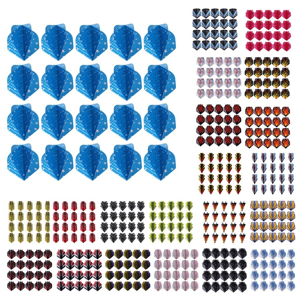20pcs Dart Flights Standard Geometric Patterns Darts Flights Protectors Darts Accessories Kit