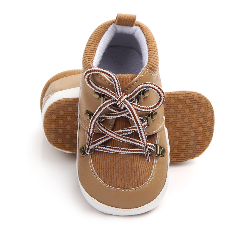 Non-slip Baby Shoes PU Suede Lacing Newborn Baby Boy Girl Shoes Casual Infant Toddler First Walkers Shoes Schoenen