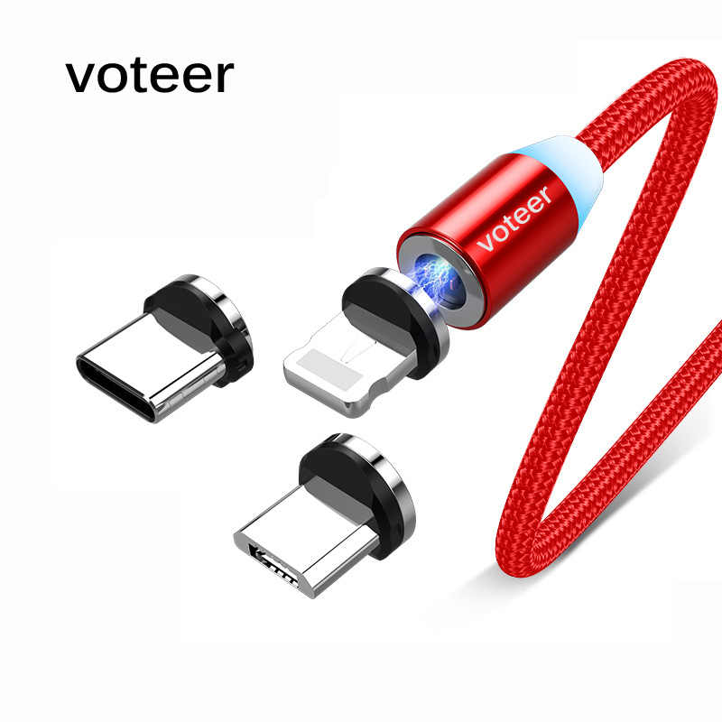 Voteer Magnetic Micro USB Cable Quick Charge For iPhone 11 Pro Samsung Fast Charging Wire Cord Magnet Charger Type-C Phone Cable