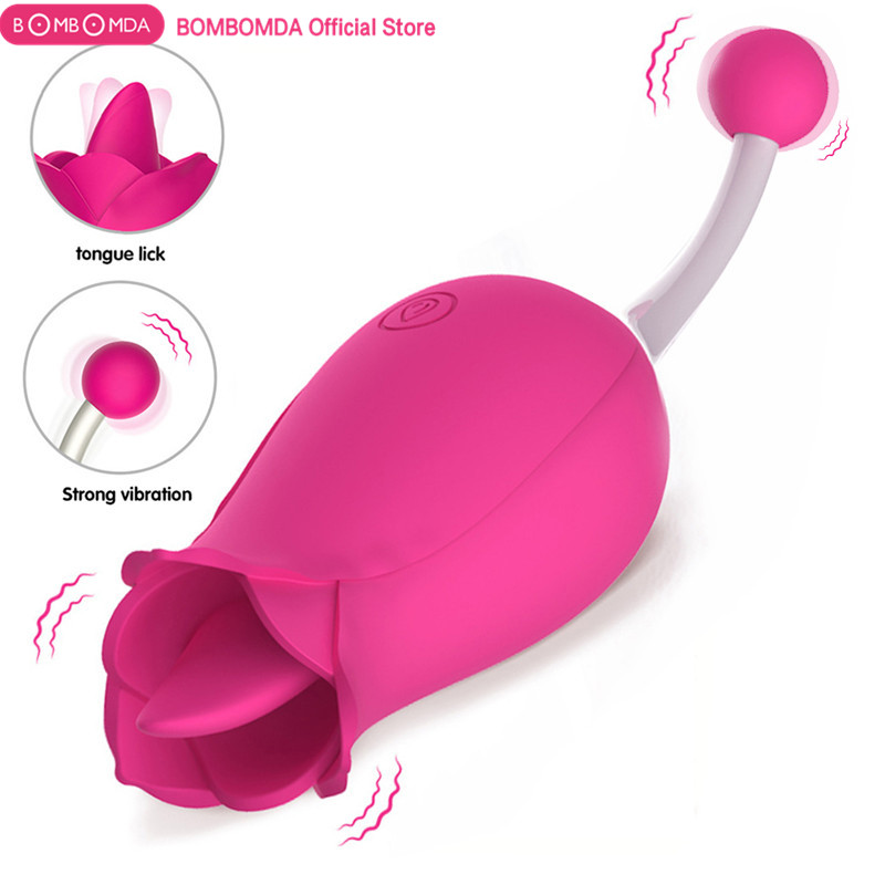 Vagina Dildo Vibrator For Women Flower Shape G Spot Clitoris Stimulator Pussy  Licking Tongue Vibrator for Adult Toys Sex Shop