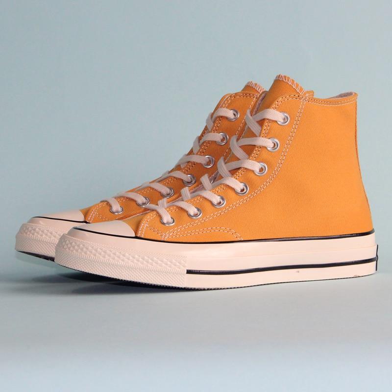 Новый converser патрон 70 Ретро Версия 1970S Оригинал все стильная обувь в стиле унисекс кроссовки желтый Скейтбординг обувь 162054C