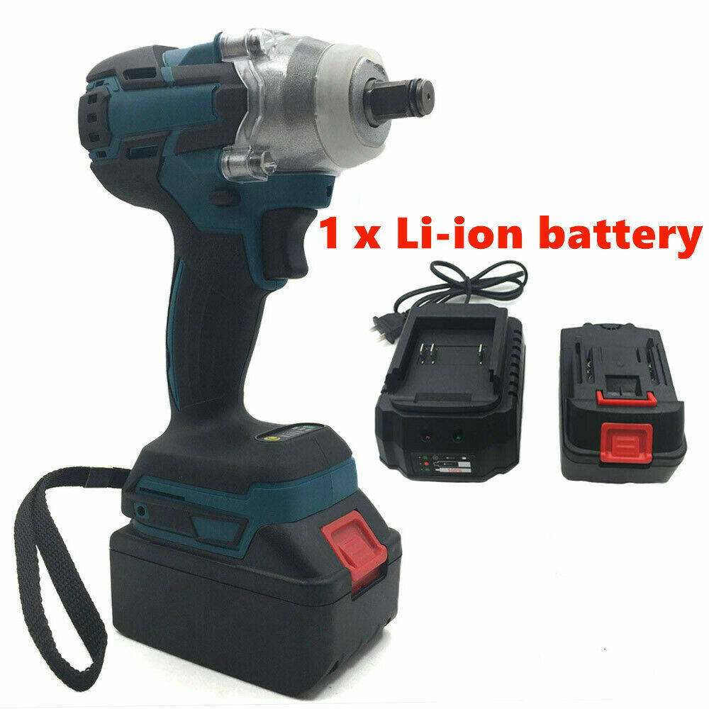 18V Electric Rechargeable Brushless Impact Wrench Cordless Socket Wrench For Makita Battery DTW285Z +Socket Set+ 1500mAh Battery