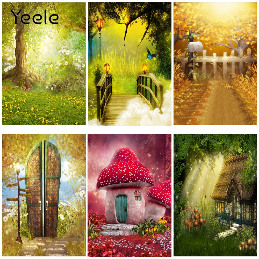 Yeele Fairy Dream wonderland Magic Town Photography Backdrops Personalized Photographic Backgrounds For Photo Studio Photophone