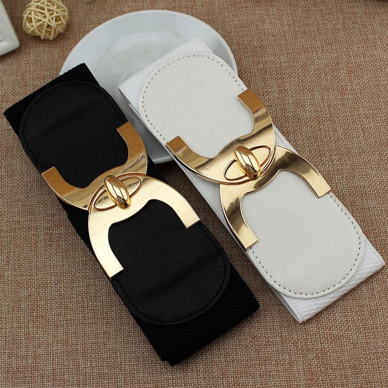 Belt Wide Accessories Cummerbund-Strap Buckle Female Women New-Fashion Korean-Style