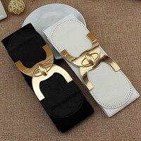 2020 New Fashion Korean Style Buckle Elastic Wide Belt Wide Cummerbund Strap Belt Waist Female Women Accessories 1