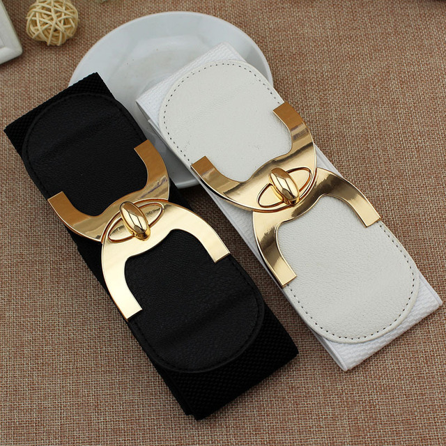 2020 New Fashion Korean Style Buckle Elastic Wide Belt Wide Cummerbund Strap Belt Waist Female Women Accessories 1