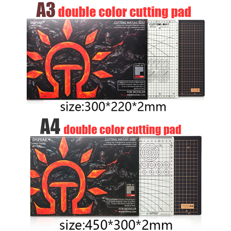 A3 A4 Cutting Mat Dspiae At-c Cutting Mat To Environmental Model Black Gray Double-sided  Self-healing Cutting Mat Cutting Tool