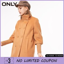 ONLY Women Stand collar knitted stitching sleeve wool overcoat Coat Jacket |11834S515(China)