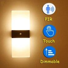 LED Fashionable PIR Sensor Wall Lighting Lamp TV Wall Decoration Motion Lamp Light for Bathroom Touch Wall Light Mirror Lamp