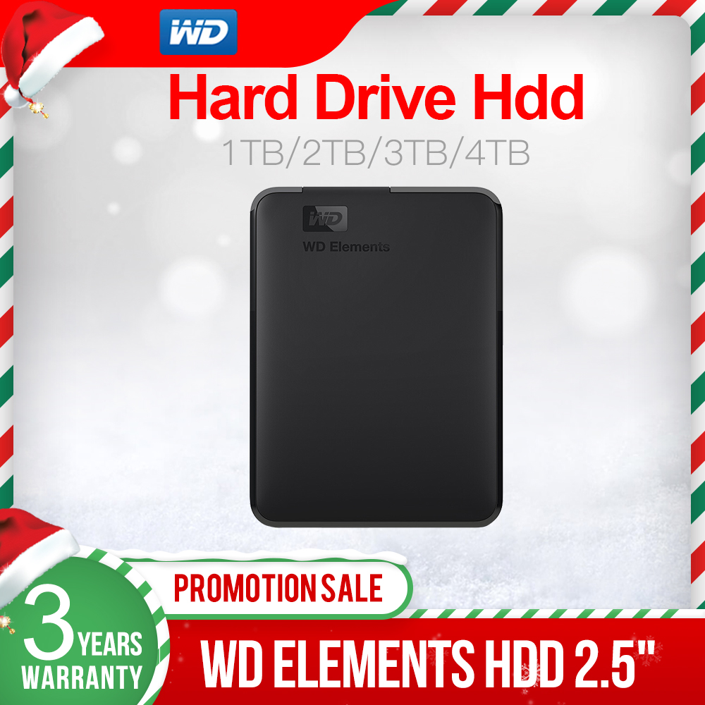 قرص صلب خارجي من Western Digital WD Elements بسعة 500 جيجابايت 1 تيرا بايت 2 تيرا بايت 4 تيرا بايت 5 تيرا بايت USB3.0 بوصة محرك أقراص صلبة محمول hdd لأجهزة الكمبيوت... title=