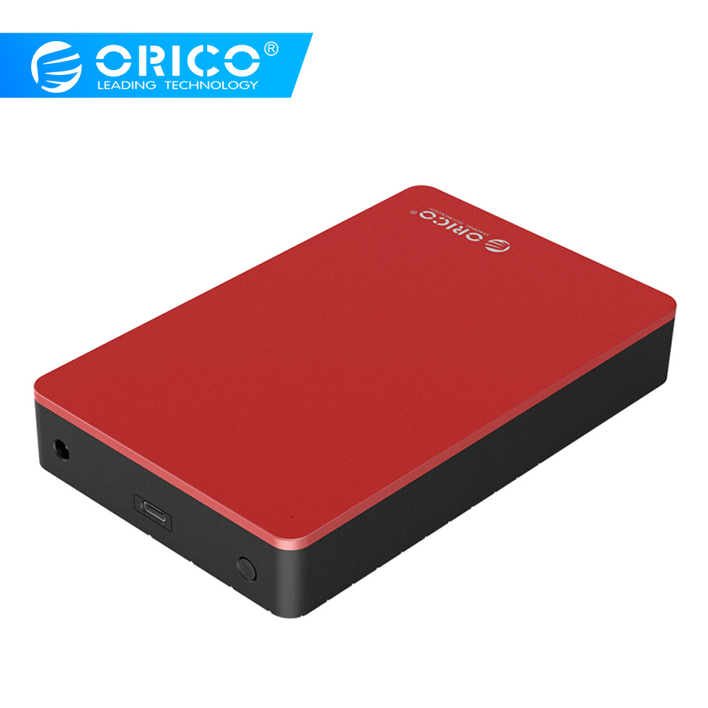 ORICO 3.5 Inch Type-C HDD Case Aluminum SATA To USB C External Hard Drive Enclosure For 8TB HDD SSD With 12V Power Adapter