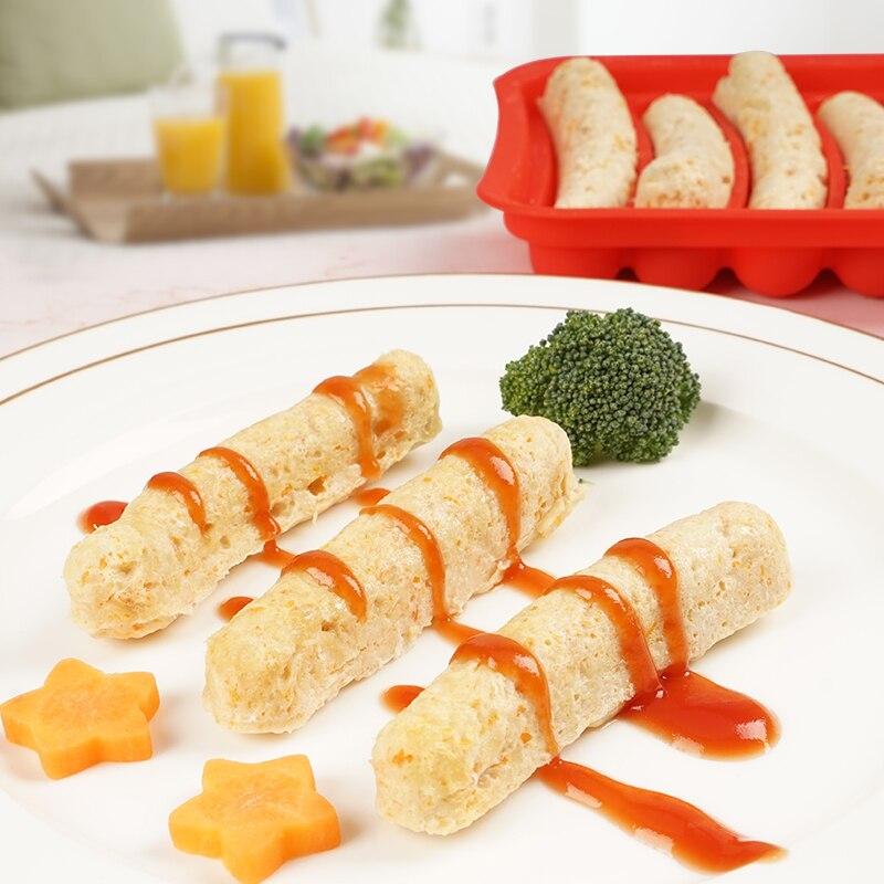 Детская форма для хот-дога, изготовленная из силикагеля, самодельная форма для яичной колбасы и детской дополнительной колбасы