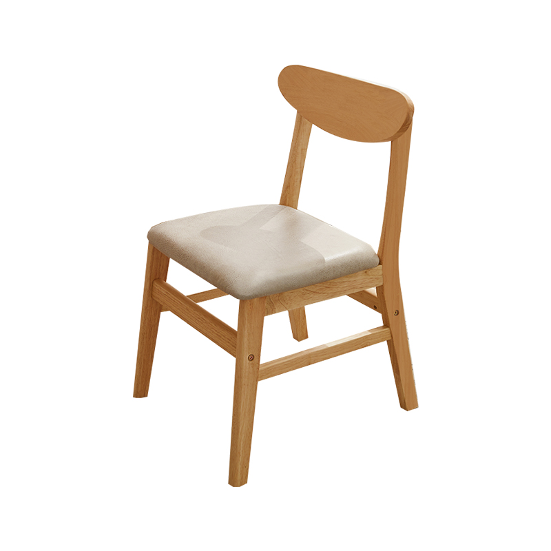 All Solid Wood Chair Horn Chair Back Chair Nordic Dining Chair Modern Minimalist Home Study Stool Student Learning Chair