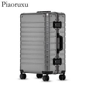 "Image 2 - 20""24""28"" inch 100% aluminium rolling luggage travel suitcase aluminum spinner trolley bag on wheel"