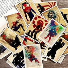 25pcs Marvel Movie Retro Superhero Stickers Skateboard Motorcycle Luggage Stickers for Set Pvc Waterproof Super Hero Stickers(China)
