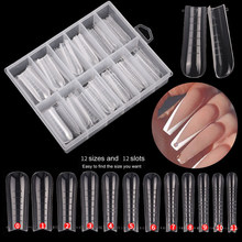 120 Pcs Quick Building Mold Tips Finger Extension Nail Dual Forms with Storage Box Nail Art UV Builder Poly Nail Gel Tools 2021