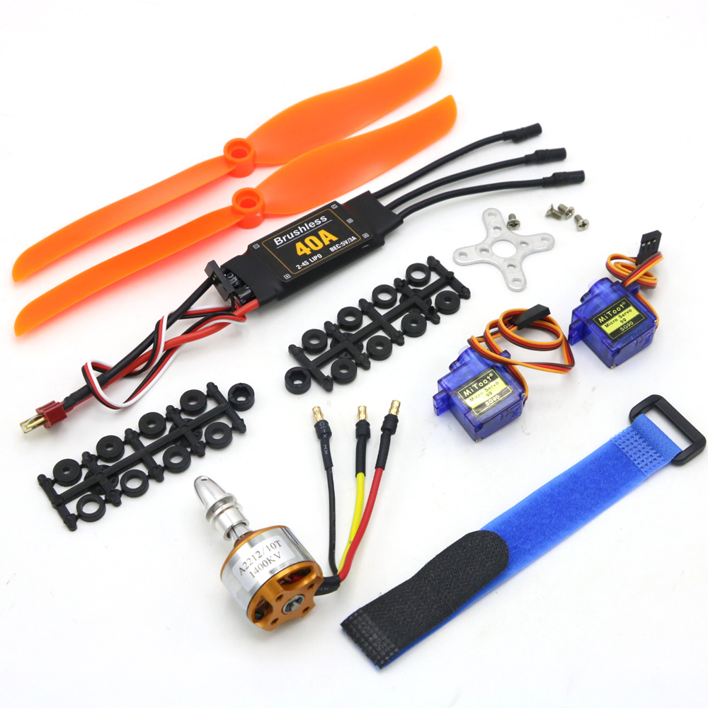 A2212 2212 2200KV 1400KV 1000KV Brushless Motor 30A 40A / 40A BLheli ESC SG90 9G Micro Servo For RC Fixed Wing Plane Helicopter