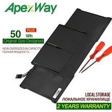 "Apexway 7,4 V 50Wh аккумулятор для ноутбука Apple MacBook Air 1"" A1466 A1369 A1405 A1496 A1377 аккумулятор с отвертками"