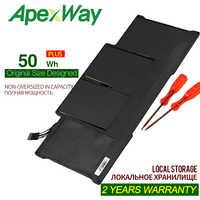 """Apexway 7.4V 50Wh nouveau batterie d'ordinateur portable pour Apple MacBook Air 13 """"A1466 A1369 A1405 A1496 A1377 batterie avec tournevis"""