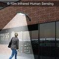 Водонепроницаемый Солнечный садовый светильник уличный сенсорный Фонарь Солнечный свет PIR датчик движения 66 светодиодный настенный свети...