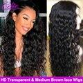 Прозрачные парики Celie HD, влажные и волнистые парики на сетке спереди, безклеевые длинные парики на сетке спереди, парики из человеческих вол...