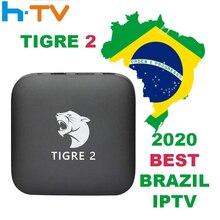Tigre2 tv 박스 HTV6 HTV 박스 5 iptv HTV5 박스 H.TV 6 브라질 포르투갈어 인터넷 스트리밍 박스