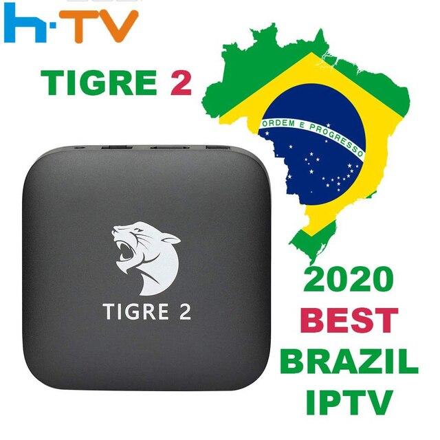 Tigre2 tv box HTV6 HTV BOX 5 iptv HTV5 BOX H.TV 6 Brazilian Portuguese Internet Streaming box