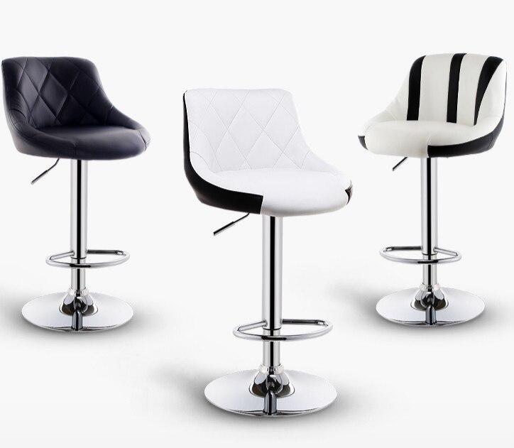 Bar Stool Lift Home Front Desk Bar Chair Modern Minimalist High  Back