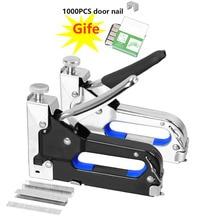 Manual Nail Staple Gun Furniture Stapler Rivet Three 3-in-1 Kit Nailers Tool Nietzange Wood Door Upholstery Framing